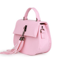 Preppy Style Mini Shoulder Bag Fashion Tassel Ladylike Bag Women Semicircular Small Fringed Bag Ladies Stylish PU Crossbdoy Bag