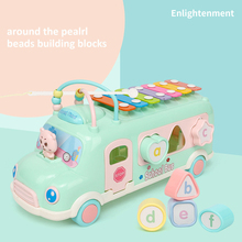 Baby Hand Knock on the Piano Eight-tone Piano Children's Puzzle Early Education Toy Baby Beat Music Toy Percussion Instrument