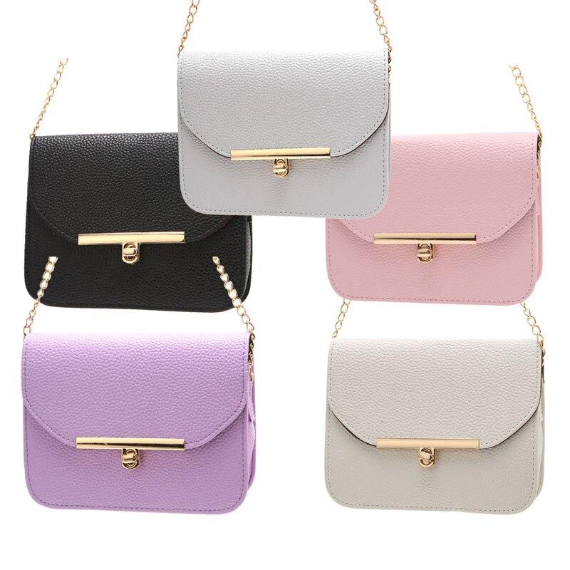 Bolsas de Mensajero de Las Mujeres de moda Bolso de Cadena de Pequeñas Bolsas de