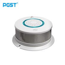 PGST 433MHz Wireless Fire Sensor Smoke Detector For WIFI GSM office home security Alarm System Auto Dial Voice alarm Systems