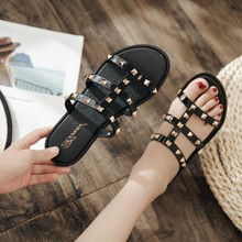 Fashion Women Slides Summer Rivet Slippers Women Shoes Flip Flops Slide Sandals
