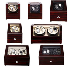 лучшая цена Mahogany Lacquer Sandalwood Luxury Automatic Watch Winder Boxes Full Model Slient Japan Motor for Brand Watches Display&Storage