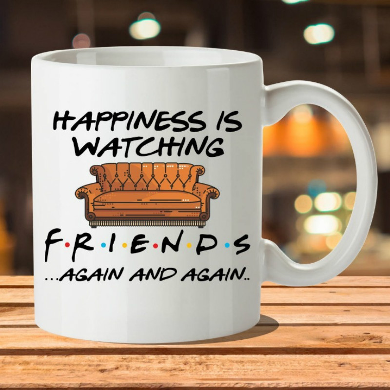 Whitelf Tv Shows Friends Mugs Travel Beer Cup Porcelain Coffee Mug Tea Cup with Stirring Spoon Кубок