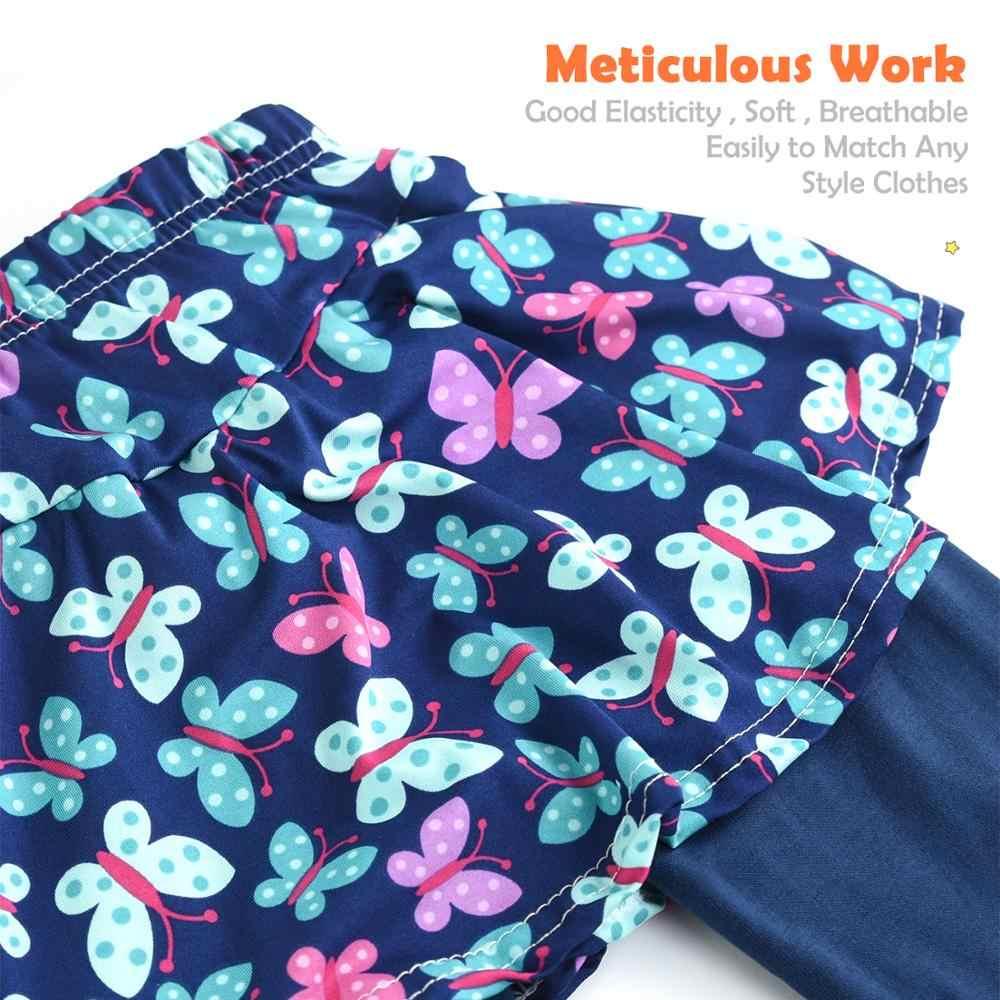 綿キッズガールズレギンススカートキュロットパンツレンダリング子供フローラルプリント弾性鉛筆のズボンのズボン