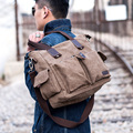 2017 New Quality Canvas men handbags casual Shoulder messenger Bags Satchel business computer bag genuine leather zipper men bag