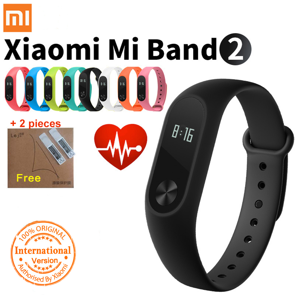 D'origine Xiaomi Mi Bande 2 Montre Intelligente Fitness Tracker avec OLED Sommeil Moniteur de Fréquence Cardiaque Smart Bracelet Bracelet Miband 2 # CO