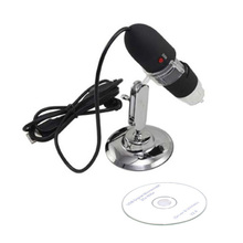 Discount! THGS Black UK New Pro 200X 8 LED USB Digital Microscope Endoscope Magnifier Camera