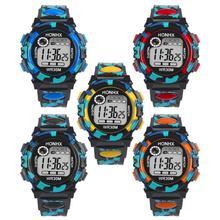 Великолепный Новый цифровой движения детей Для мальчиков и девочек Многофункциональный Водонепроницаемый спортивные электронные часы Прямая доставка