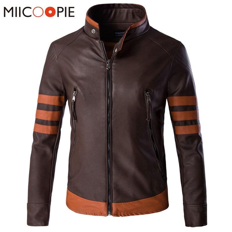 New cosplay X men Wolverines James Logan Howlett cosplay costume jacket PU Men Motorcycle Leather Jackets Overcoat Jaqueta 5XL