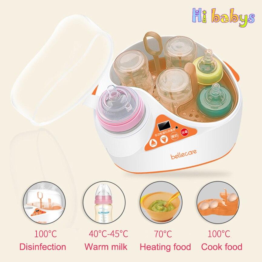 Di alto livello Multifunzione Bottiglia di Bambino e Più Caldo Cibo Sterilizzatori Dispositivo di Latte Caldo Display LCD Schermo Intelligente di Riscaldamento Isolamento