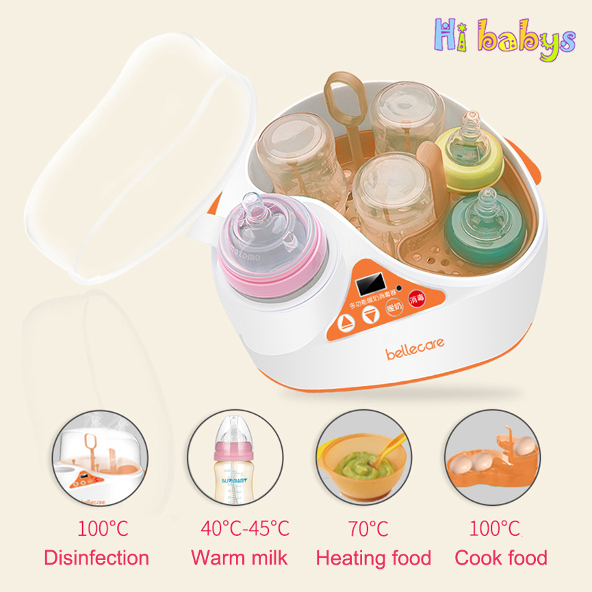 Senior Multifunction Baby Bottle Food Warmer Sterilizers Warm Milk Device LCD Display Screen Intelligent Heating Insulation