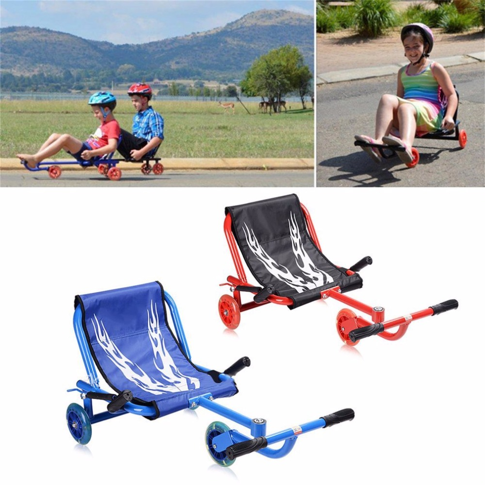 Children 3 Flashing Wheels Scooter Lightweight Outdoor Play Kids Foot Twister Swing Car Tricycle Ride Scooter Best Gift