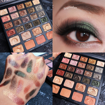 28 Color Makeup Palette Nude Shimmer Matte Eyeshadow Palette Glitter Highlighter Palette Eyeshadow Pallete Cosmetic professional 28 color eyeshadow palette glitter shimmer matte eyeshadow pallete pigmented smoky metallic makeup palette cosmetic