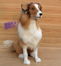 big new simulation Shepherd dog toy polyethylene & furs sitting dog doll gift about 40x16x46cm