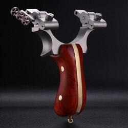 1 Uds. Potente tirachinas con banda de goma para juegos de caza al aire libre Portable Sling shot catapulta arquería Accesorios
