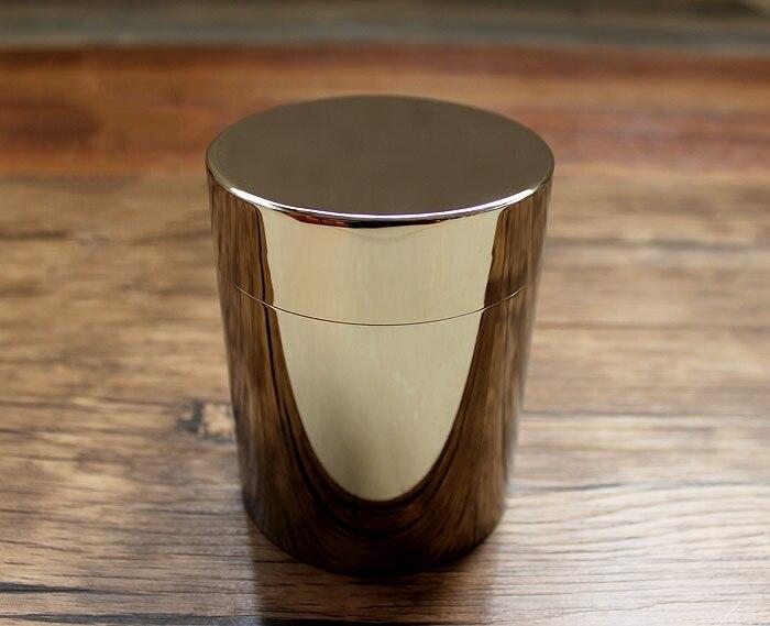 TC4 Titanium Alloy Sealed Tea Pot Storage Jar Seal Storage Box Mirror Reflection