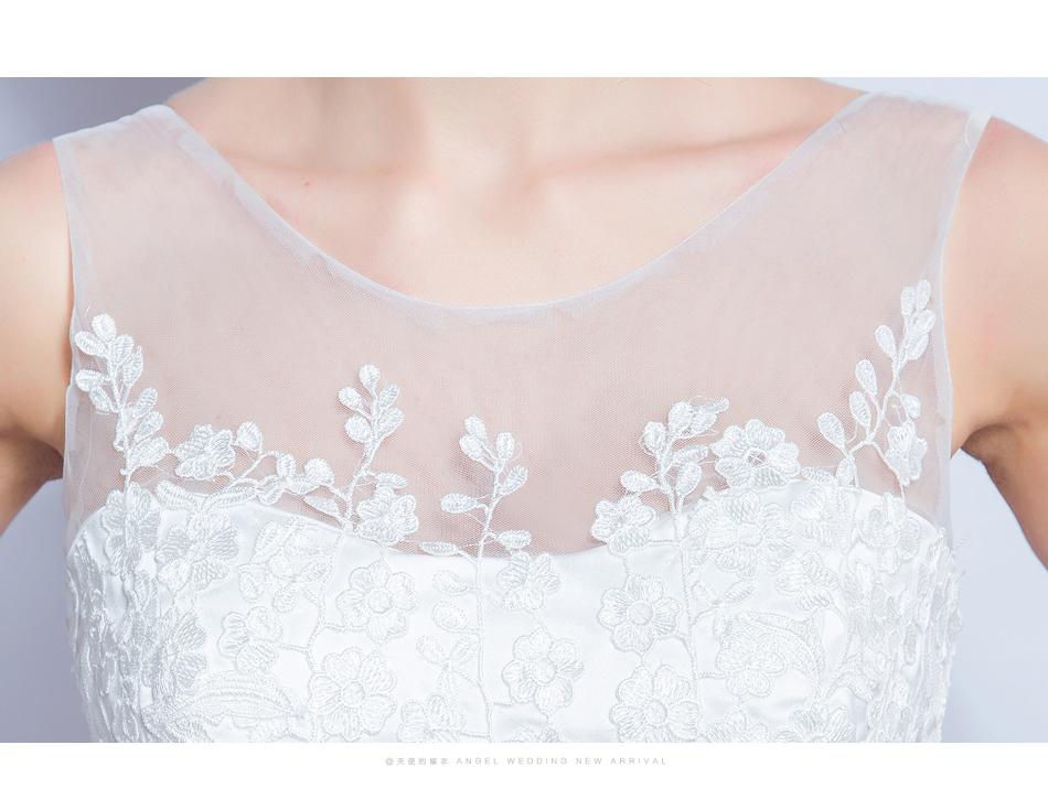 Angel Wedding Dress Marriage Bride Bridal Gown Vestido De Noiva 2017 Lace, flowers, perspective, backless 612 16