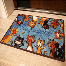 40x60cm Cute Cat Doormat Non-Slip Kitchen Carpet Bath Rug Home Entrance Floor Mats Hallway Rugs Kitchen Mat