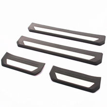 Beige ABS+Stainless Steel Door Sill Scuff Plate Trim Car Styling Accessories  For Honda Vezel HR-V H-RV 2014-2017
