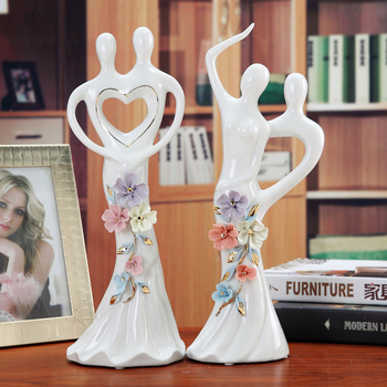 European Ceramic couple character ornaments Home decor art craft lover furnishings room decorations figurines wedding gifts