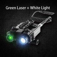 Тактический военный Стандартный двухлучевой светодиодный свет комбо зеленый лазер 5 МВт противоударный полиции Scout свет Шестерни с хвостом