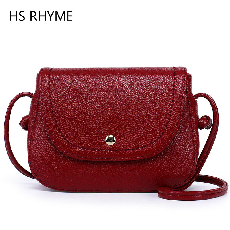 HS RHYME  2017 Genuine Leather Female Bags High Quality Handbags Sheepskin Crossbody Bags for Women Shoulder Bag Sac a main high quality genuine leather luxury handbags women bags designer top leather zippers shoulder crossbody bag for women sac a main