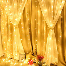 цена 3x1/3x3 300 LED Icicle String Lights Christmas Fairy Lights garland Outdoor Home For Wedding/Party/Curtain/Garden Decoration в интернет-магазинах