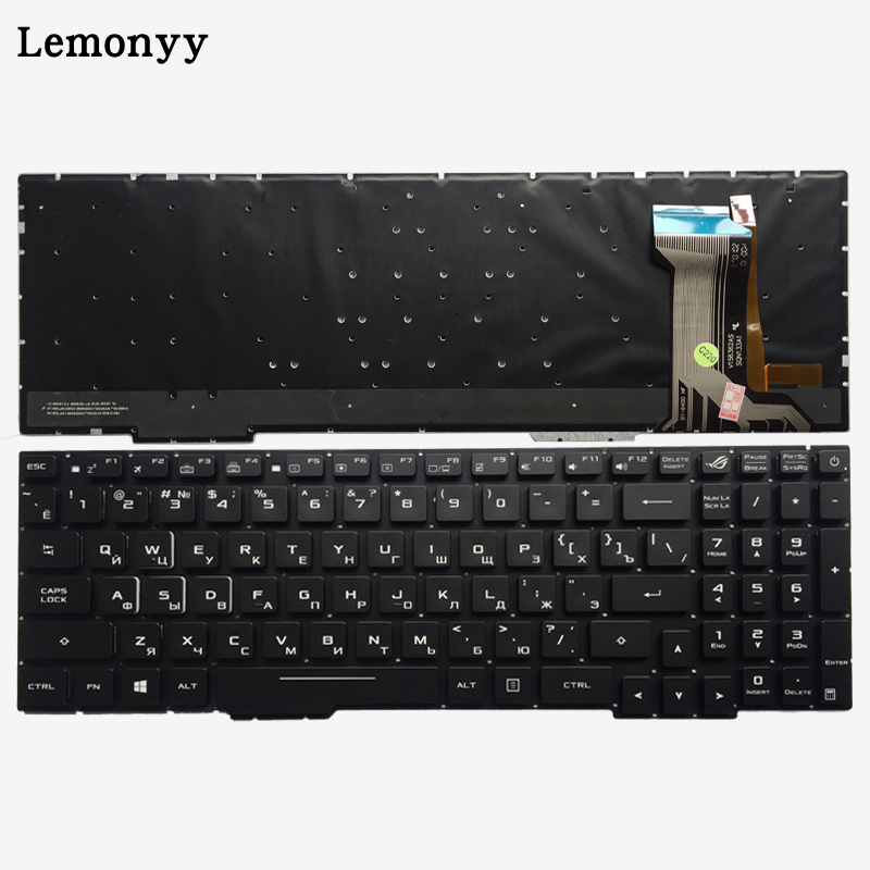 Russian Laptop Keyboard For ASUS GL753 GL753V GL753VE GL753VD RU keyboard with backlit цена