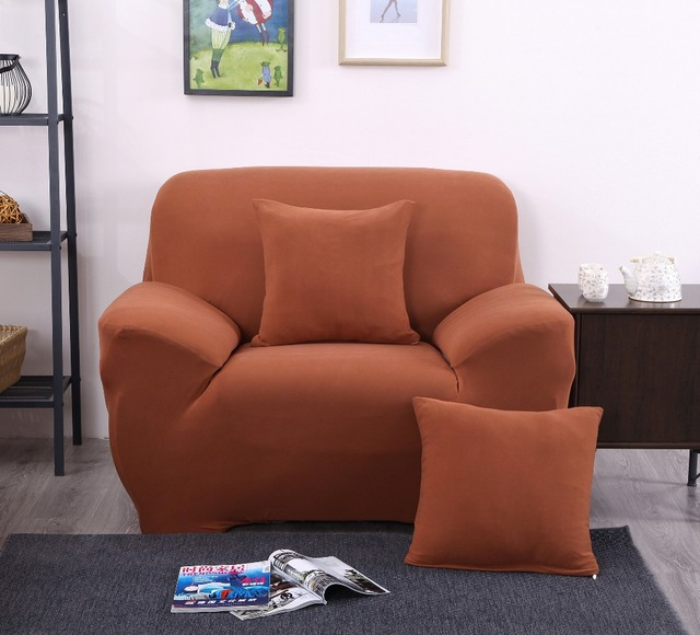 Elastic Sofa Cover Red Color Sectional Sofa Cover L shaped Stretch