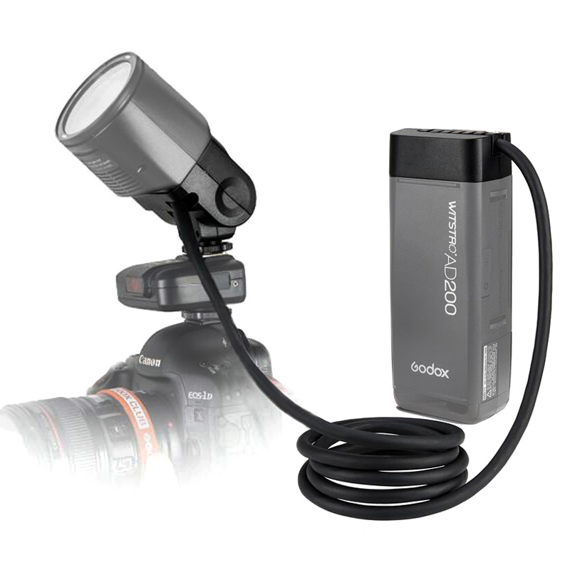 Godox EC200 Extension Head 1 85m Hot Shoe Separation Extension Flash Light Adapter for Godox AD200