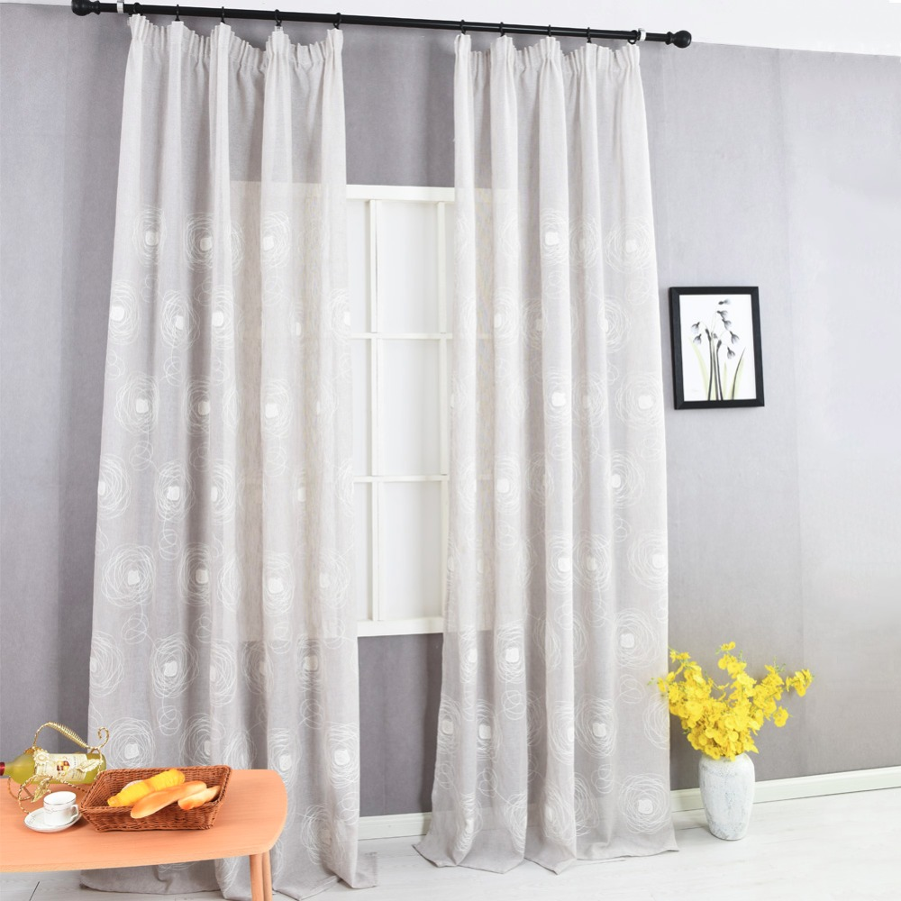 overstock curtain faux garden shipping curtains panel heavy home product free linen today