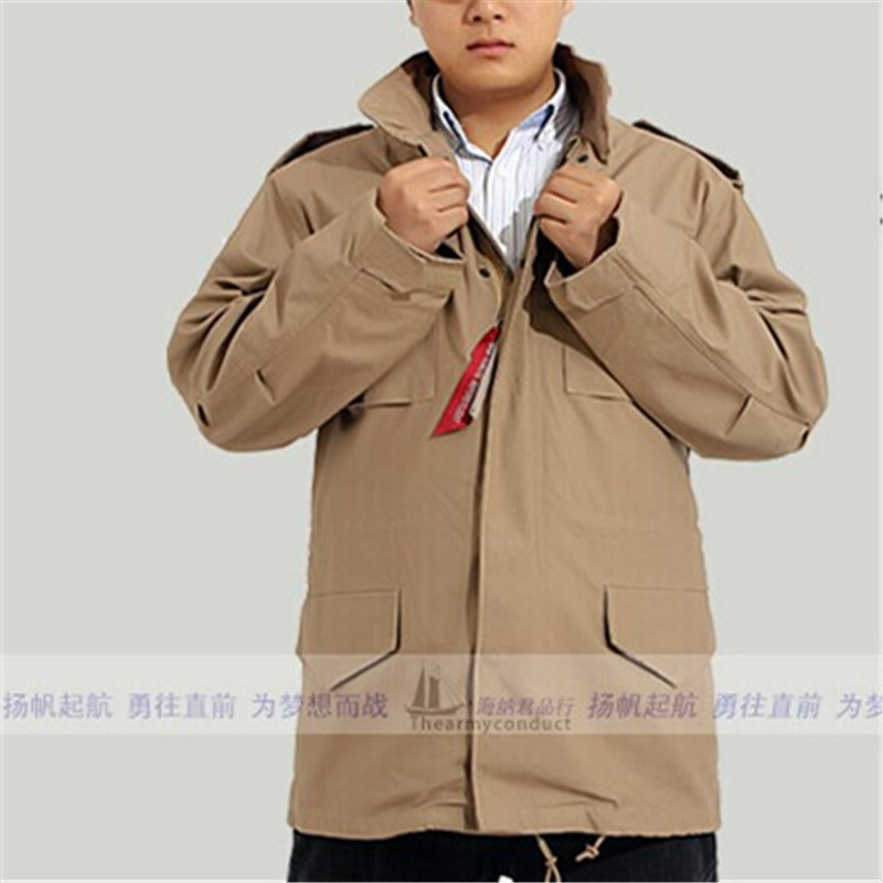 ФОТО military tactical jacket for men export version of the classic M65 ALPHA Alpha windbreaker jacket men's jacket
