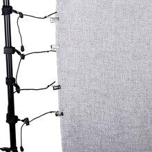 CY abrazadera de fondo para estudio de fotografía, 8 Uds., soportes de muselina, Clips para pantalla, abrazaderas de soporte de fondo