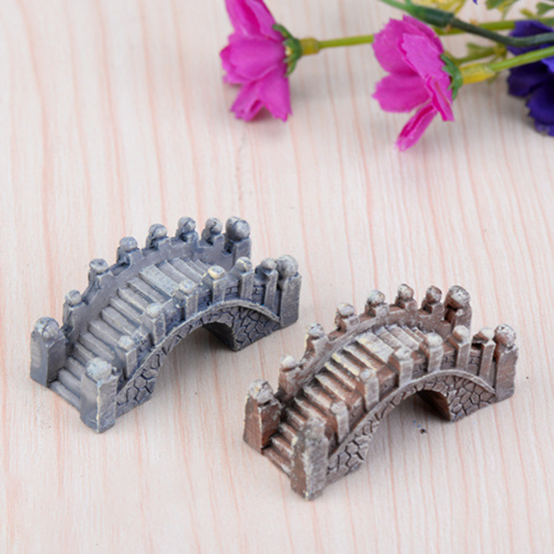 1PC Cute Mini Resin Bridge Miniature Fairy Garden Micro Landscape Home Decoration Crafts