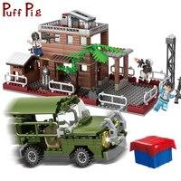 560 PCS Military School Battlegrounds Army Truck Soldiers Weapon Guns Building Blocks Compatible Legoed Education Children Toys