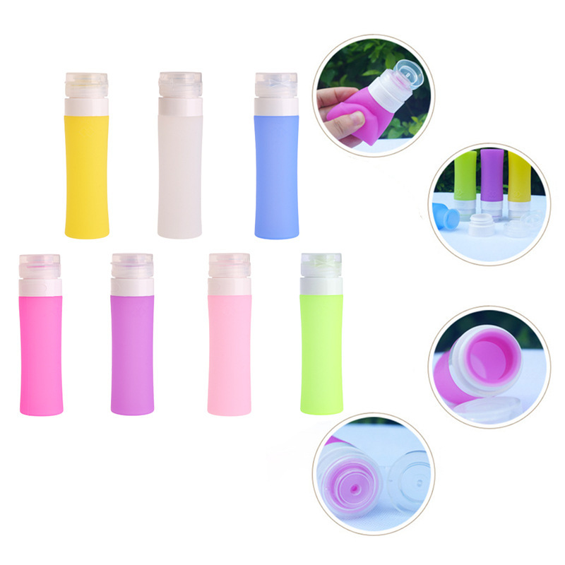 1 PC Silicone Refillable Bottle Portable Mini Traveler Packing Bottle Press Bottle For Lotion Shampoo Bath Refillable Bottles