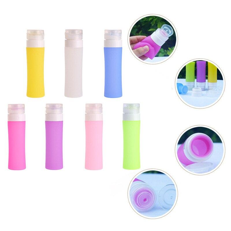 1Pcs Refillable Bottle Silicone Travel Portable Mini Cosmetic Packing Bottle Lotion Shampoo Bath Bottles Dispensing Bottles