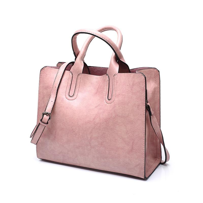 Tagdot Brand Large Tote bags PU leather Fashion Shoulder messenger bag women leather Handbag bags for women black blue pink 2018