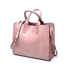 Tagdot Brand Large Tote bags PU leather Fashion Shoulder messenger bag women leather Handbag bags for women black blue pink 2018