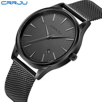Top Luxury Brand Men Full Stainless Steel Mesh Strap Business Watches Men S Quartz Date Clock