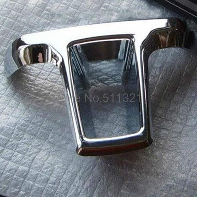 For Volkswagen VW Golf 6 MK6 2010-2011 polo Chrome Steering Wheel trim Car trim Car Styling Auto Accessories 1pcs