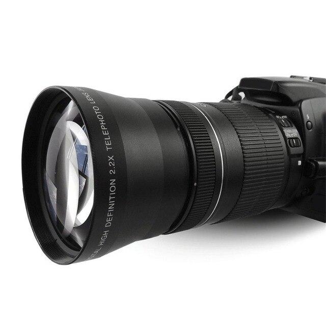 Lightdow 67 мм 2.2x Телефото Теле Объектив для Canon EOS 550D 600D 650D 700D 60D 70D 18-135 мм Объектив Nikon 18-105 мм Объектив