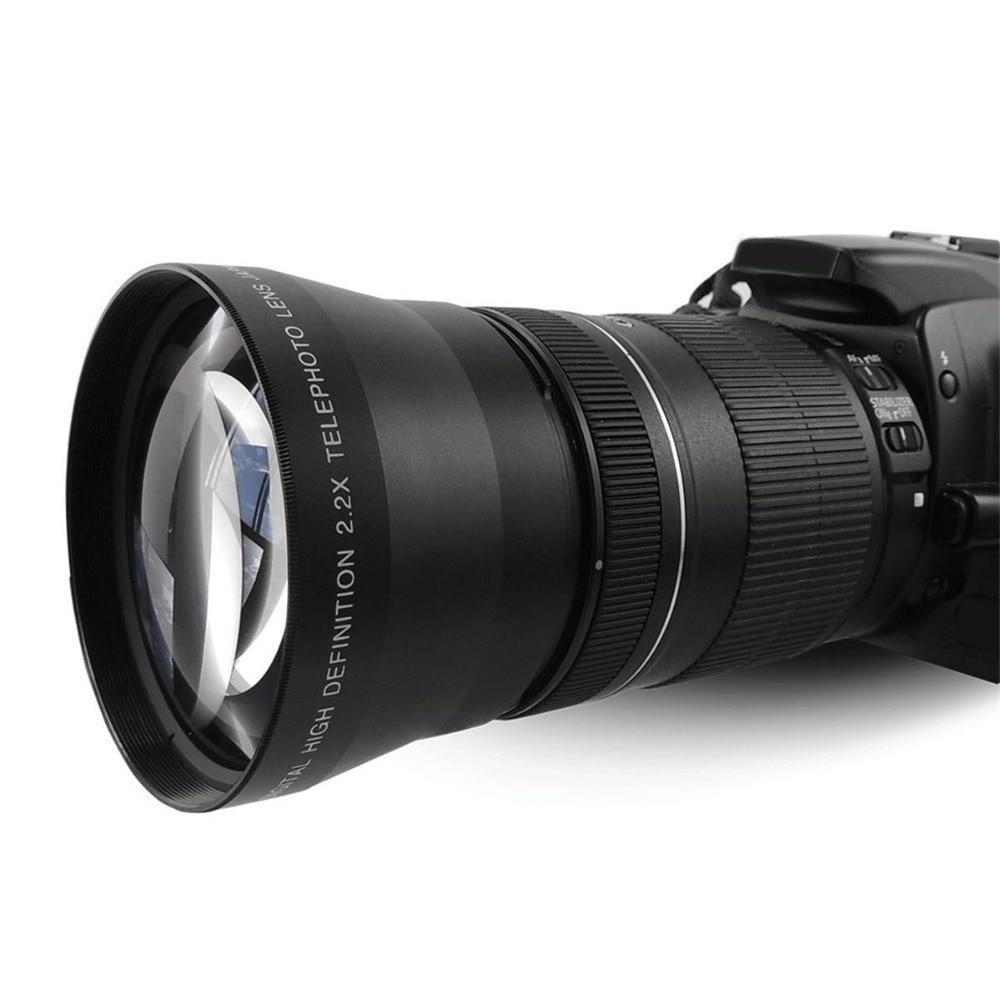 Objectif téléobjectif Lightdow 67mm 2.2x pour Canon EOS 550D 600D 650D 700D 60D 70D 18 135mm objectif Nikon 18 105mm-in Objectifs pour appareil photo from Electronique    1