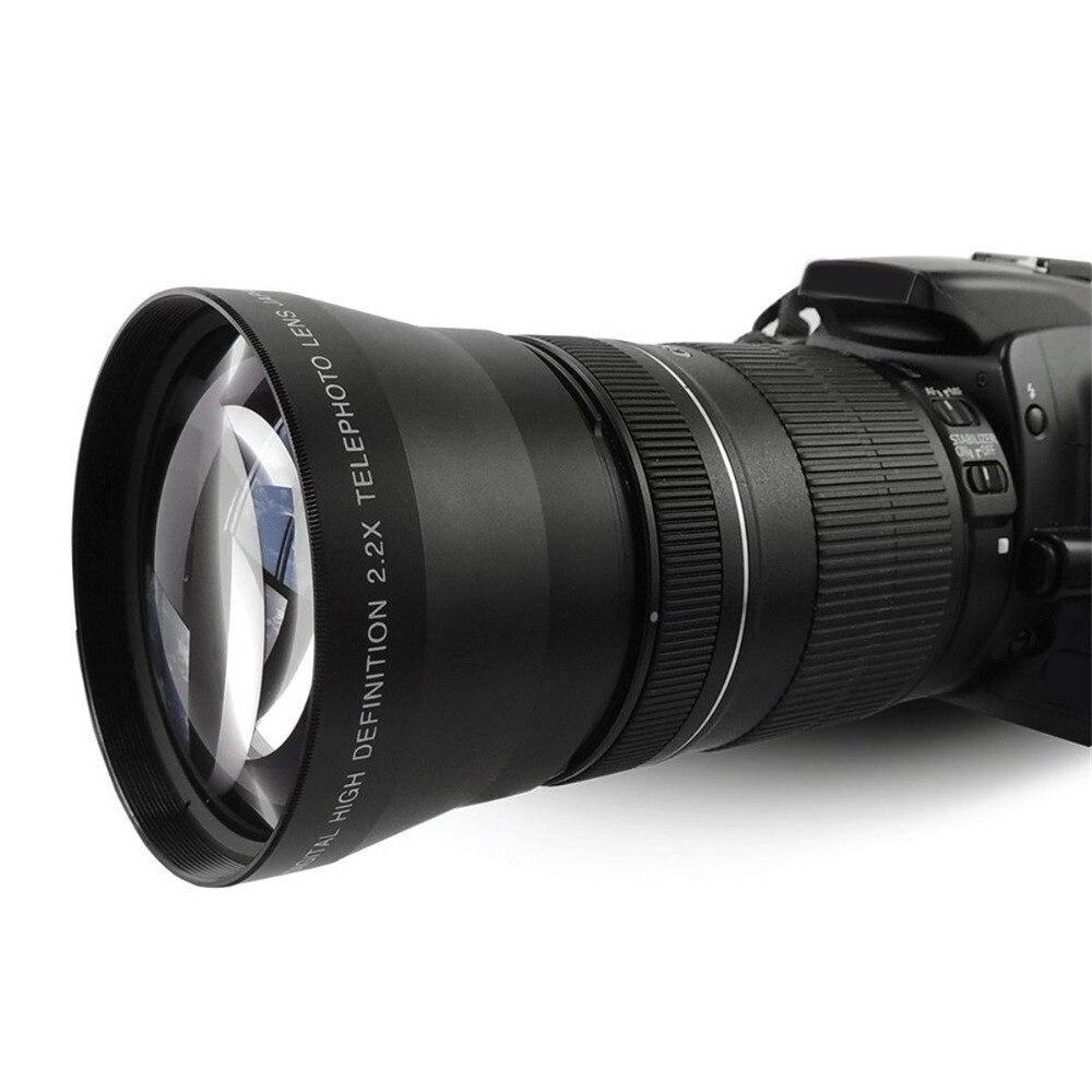 Lente para Canon Lightdow Telefoto Tele Eos 550d 600d 650d 700d 60d 70d 18-135mm Lente Nikon 18-105mm 67mm 2.2x