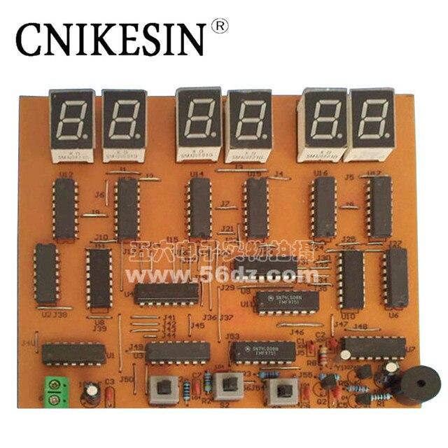 cnikesin diy kit 6 digital clock production suite digital clock