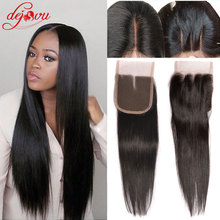 "Peruvian Virgin Hair Straight Closure 7A 4""x4"" Swiss Lace Top Peruvian Closure Bleached Knots 100% Human Hair Lace Closure"