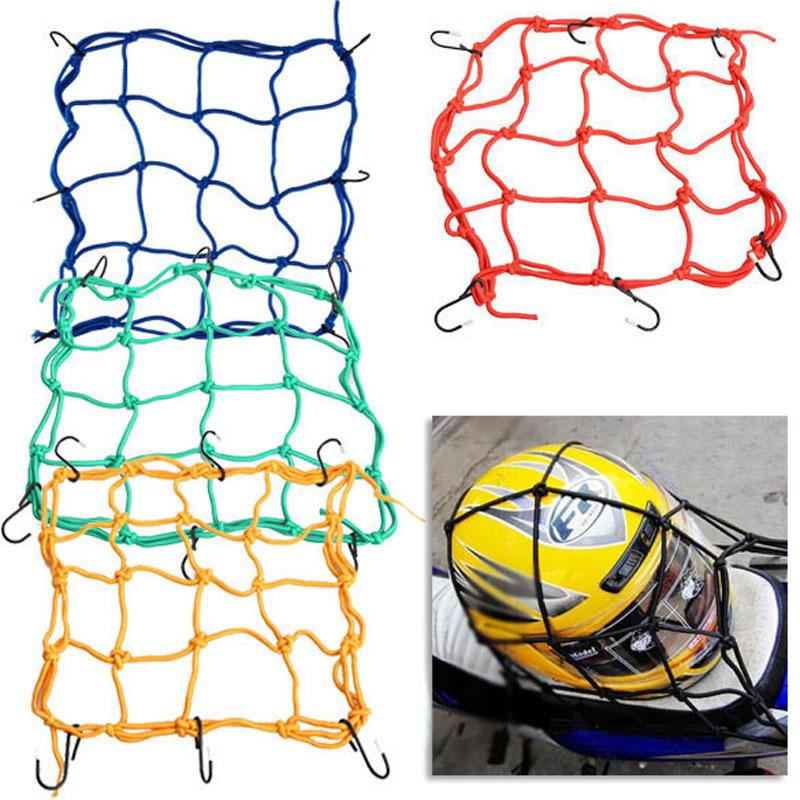 30*30cm Motorcycle 6 Hooks Hold Down Fuel Tank Luggage Net Mesh Web Bungee