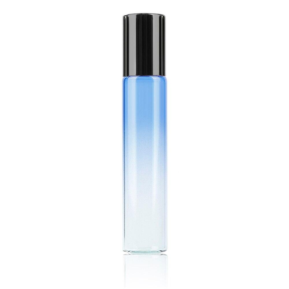 10 мл градиентный цвет эфирное масло флакон духов ролик Толстый Стеклянный рулон прочный для путешествий косметический контейнер - Цвет: 01