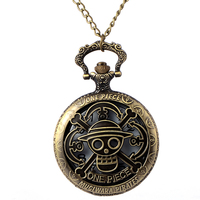 Cindiry retro bronze vintage one piece theme skull hollow quartz pocket watch pendant fob watches chain.jpg 200x200
