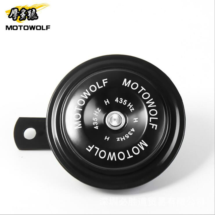 1Pcs Motorcycle Horn Moto Trumpet 12V Black Loud 110db Moped Dirt Bike Electric Vehicle Scooter Air Horns Motorbike Classic Horn modified motorcycle accessories refires horn trolley belt oil pump cnc general horn refires